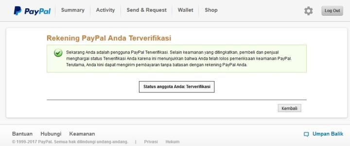 Cara Mengecek Status Akun Paypal Anda Terverifikasi Atau Belum Verified Unverified Paypal Vccmurah Com Jual Vcc Murah Untuk Verifikasi Paypal Termurah Seluruh Indonesia